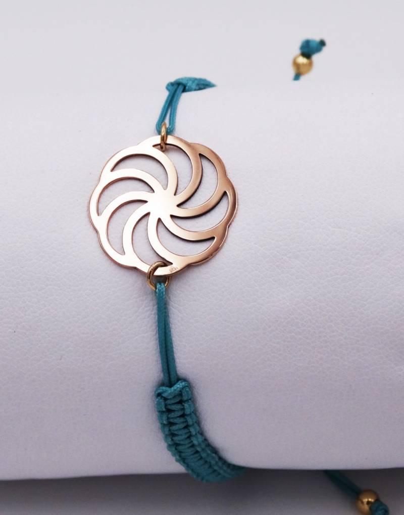 Bracelet Symbole De Léternité En Or Blanc 18 Carats 186 Grammes