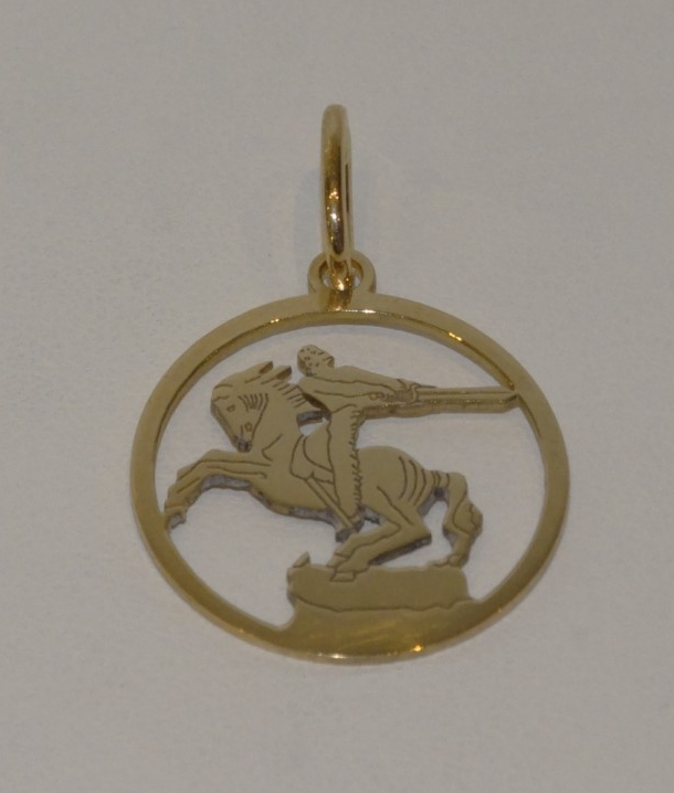 Médaille David de Sassoun or rose 18 carats
