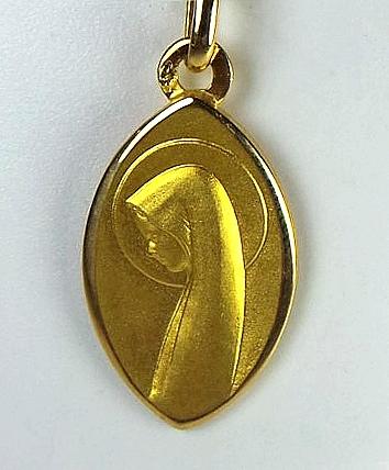 Médaille en or jaune avec vierge 18 carats 2,50g