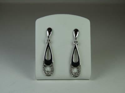 Boucles d'oreille diamants et or blanc 0.06 carat 1.21g