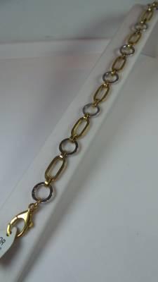 Bracelet moderne en or jaune et blanc 5g