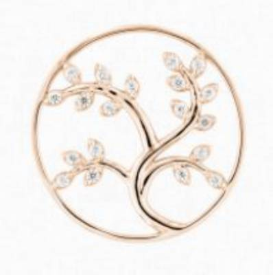 Cover My IMenso  Tree of life 33 mm argent 925 millième couleur or rose