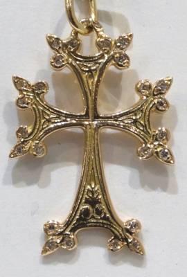 Modèle PRESTIGE ! Croix Arménienne en or (3.32 g ) avec 24 diamants de 0,01, soit 0.24 carats.